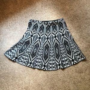 Patterned Knit Skirt